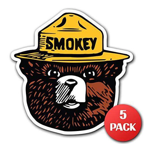 Customi Smokey The Bear Firefighting Wildlife Decal Sticker Car Truck Macbook Laptop Air Pro Vinyl 5 Smokey The Bears Car Decals Stickers Car Stickers