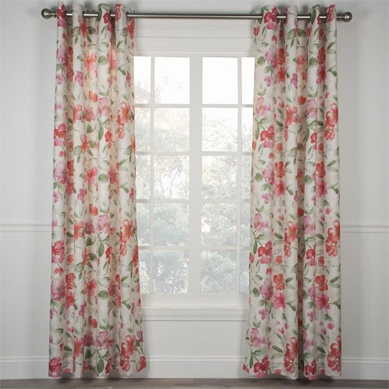 Curtains Ideas 115 inch curtains : Arden Floral Curtain Panel | www.Bestwindowtreatments.com | Window ...
