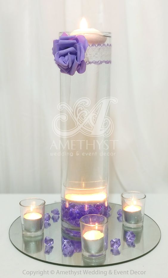 Simple elegant wedding centerpiece cm cylinder vase