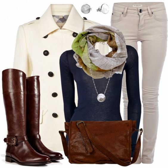 Casual Outfit: Dream Closet, Winter Outfit, Outfits Burberry, Fall Outfit, Brown Boots, Casual Outfits, Women, Fall Winter, Coat