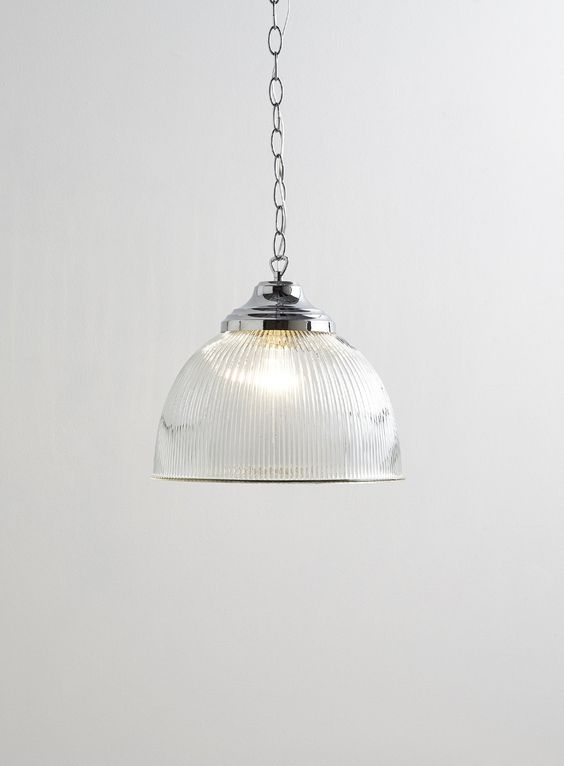 Photo 2 Of Holly Willoughby Clear Ribbed Pendant Light Lighting Pinterest