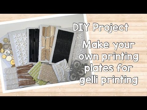 Make Your Own Printing Plates For Gelli Printing Diy Project Tutorial Youtube In 2020 Diy Projects Tutorials Printed Plates Gelli Printing