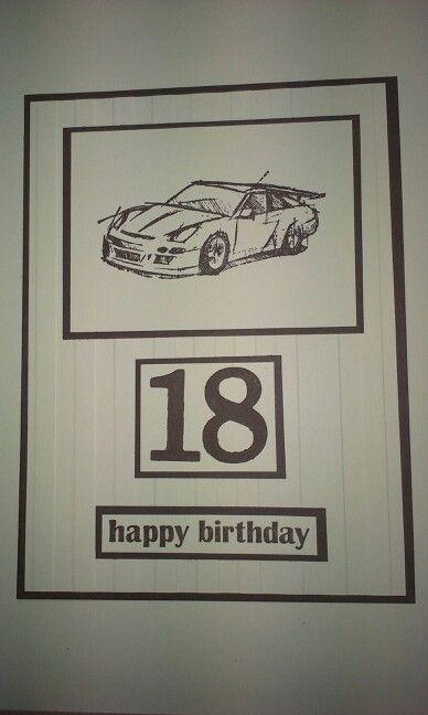 18th birthday card for my son