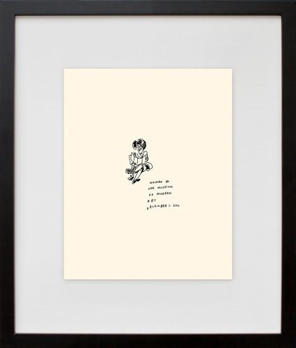 50 People at The Museum of Modern Art, by Jason Polan | 20x200
