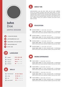 Creative Resume Templates For Microsoft Word Blue Minimalistic Resume Template  Microsoft Word Creative Resume