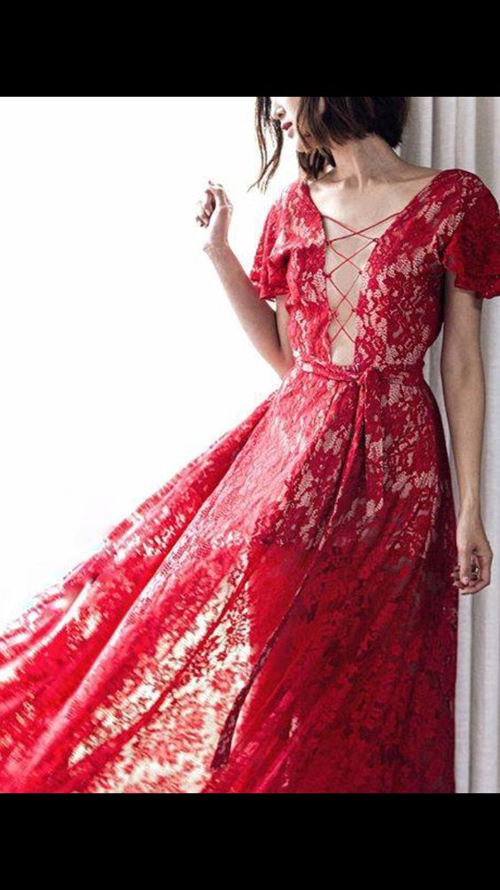 Lady in red lace