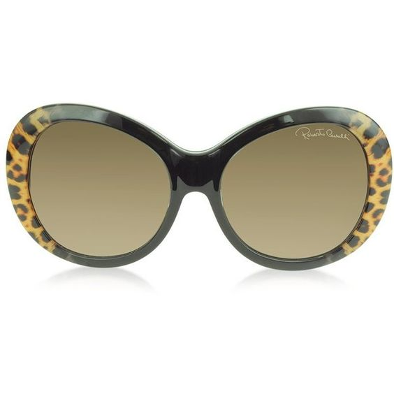 Roberto Cavalli Full Moon 734S 05G Brown Leopard and Black Women's... (¥39,575) ❤ liked on Polyvore featuring accessories, eyewear, sunglasses, glasses, round acetate sunglasses, leopard sunglasses, black round sunglasses, leopard print sunglasses and acetate sunglasses