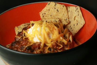 Barn Appétit: Rainy days and Black Bean Chili match up for a throw down