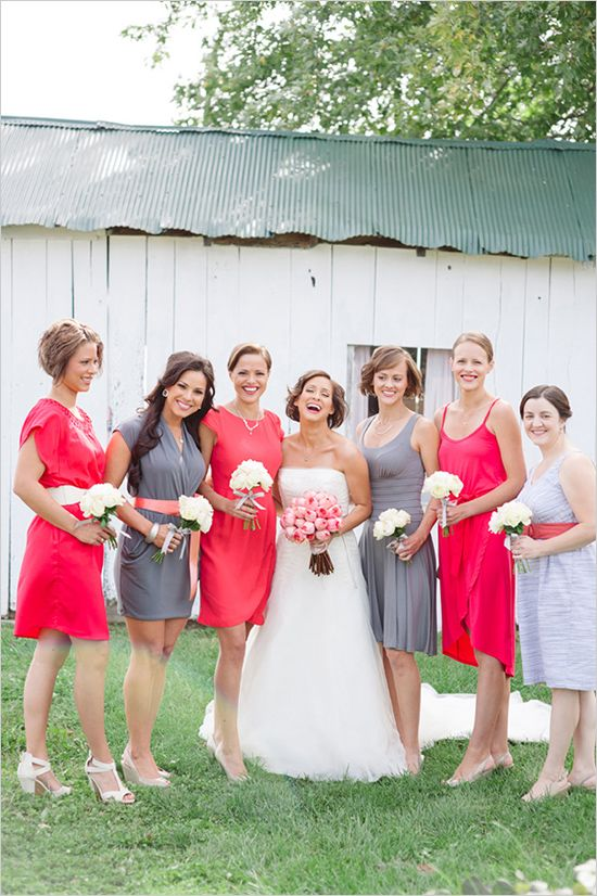 Red And Grey Bridesmaid Dresses | Wedding Gallery