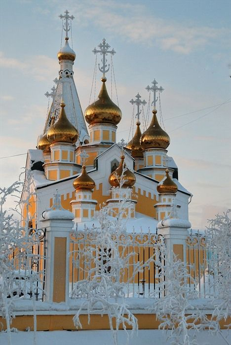 "earthunboxed:  "" Preobrazhensky cathedral in Yakutsk, Russia  """