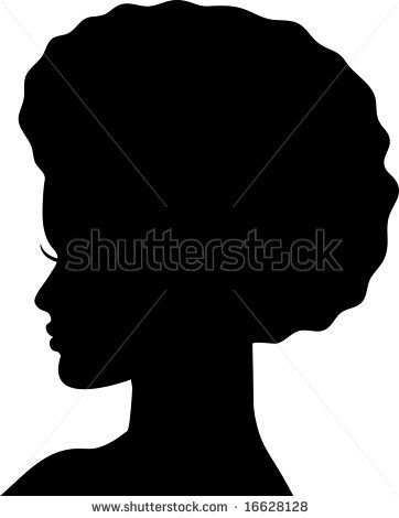 Silhouette of Afro-American girl by tutuvi, via ...