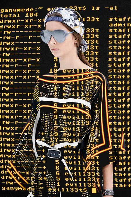 Paris Fashion Week SS16 GIFS 06 / 06    SCREEN LIFE: All of our eyes adjust to the pixelated, blown out technicolor screen life. Chanel, Lanvin, Louis Vuitton.