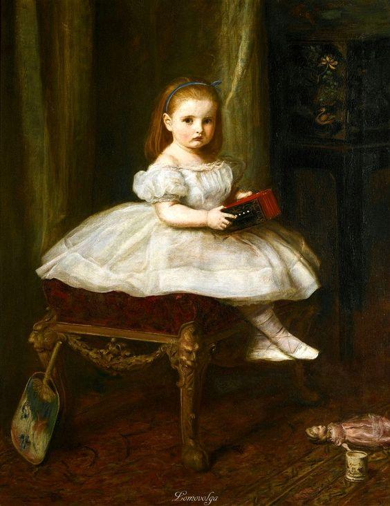 1866 John Everett Millais - Portrait of Miss Davidson: