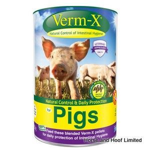Verm-X Pellets Parasite Control For Pigs 750g Verm-X Pellets for Pigs are…