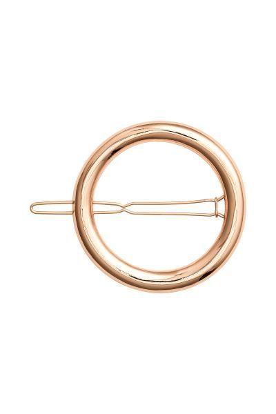 Gancho redondo para cabelo: Gancho redondo para o cabelo em metal. Diâmetro aprox.: 5 cm.
