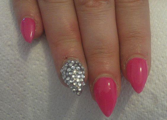 Sculptured stiletto nail art
