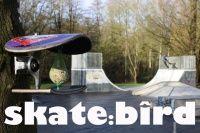 Projeto do alemão Florian Dohrmann, ele criou modelos diferenciados de casinhas de passarinhos ou como ele chama locais de alimentação para pássaros, usando shapes e trucks ele inova na criação.