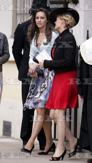 Kate Middleton and Isabella Anstruther Gough Calthorpe (red dress) 19 Jul 2008