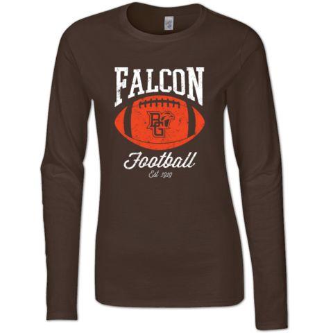 BGSU Falcon Football Pigskin Ladies Jr. Fitted T-Shirt – BG Memories | BGSU T-Shirts