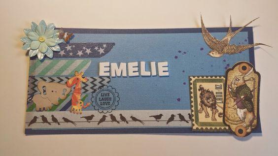 Madeleines Scrapp-blogg: EMELIE