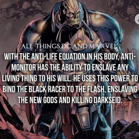 Anti-Monitor has the ability to enslave any living thing to his will.