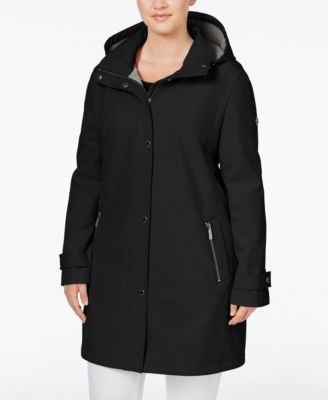 CALVIN KLEIN Calvin Klein Plus Size Hooded 4-Way Stretch Softshell Raincoat . #calvinklein #cloth # coats