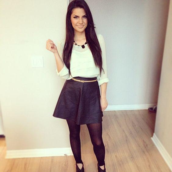 Leather Skater Skirt for SPRING! <3