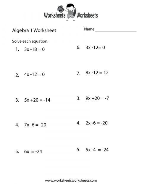 12 Math Algebra Worksheet Practice In 2020 Algebra Worksheets School Algebra Printable Math Worksheets