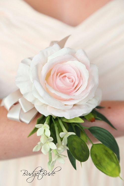 Davids Bridal Blush Pink Wrist Corsage For Mothers In Wedding