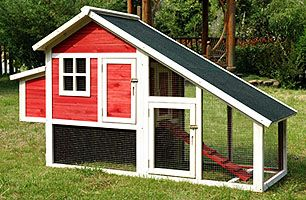 Chicken House and chicken run.  Chicken Coops for Sale - http://bit.ly/1vHXwcj
