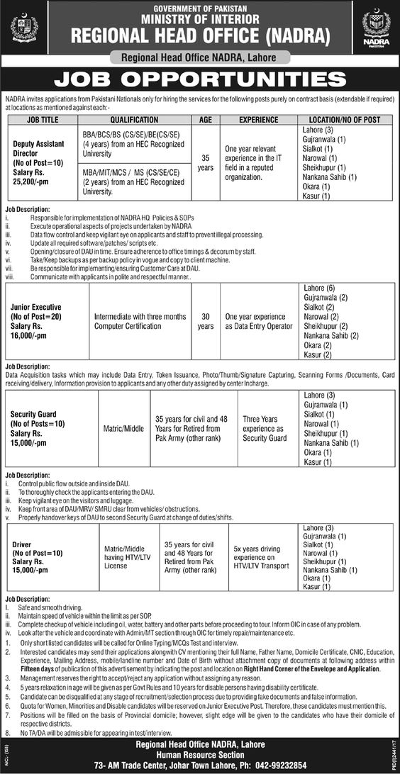 784 New Jobs in Pakistan Navy 10 April 2017 Jobs In Pakistan - security guard job description