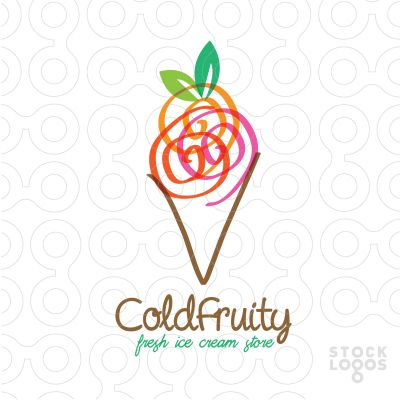 This is a really interesting ice cream company logo design