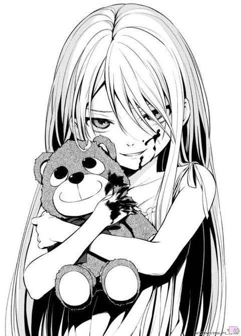Creepy Anime Girl | manga/anime | Pinterest | Anime Girls, Anime ...