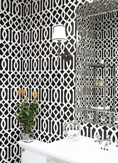 WALLPAPER and PENDANTS Powder Room Design, Pictures, Remodel, Decor and Ideas - page 21