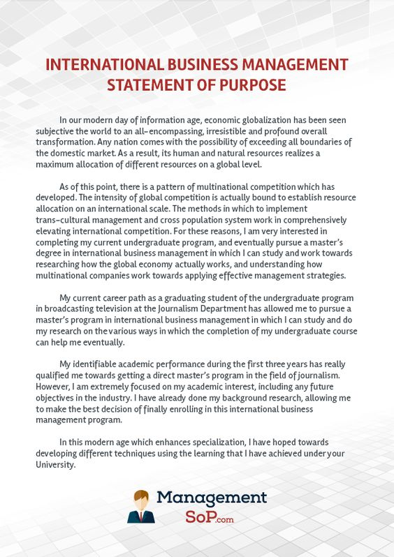 Http Www Managementsop Com Your Statement Of Purpose Writing