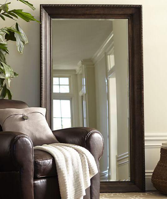 tip a big floor mirror makes any room look even bigger gallery walls pinterest for the. Black Bedroom Furniture Sets. Home Design Ideas