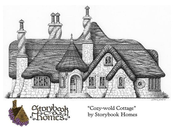 Cozey wold elevation from storybook homes and gardens on for Castle and cottage home collection