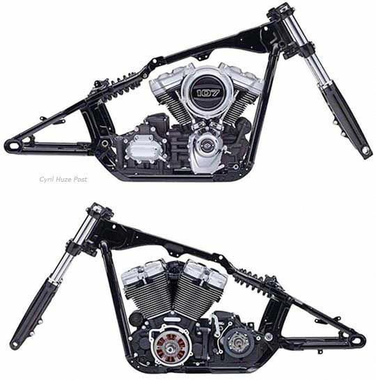 The All New Harley Davidson Softail Frame At Cyril Huze Post Custom Motorcycle News Harleydavidsonc Harley Davidson Frames Softail Custom Motorcycles Harley