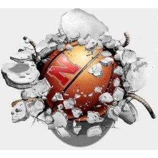 husker basketball decals | ... Nebraska Huskers Wallcrasher Wall Decal - Smashball Basketball 16