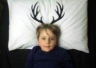 My Dearest designer Pillowcase by My Sweet Prints. antlers, deer, kids room, kids bedding, linen, homewares, Australian made and designed.
