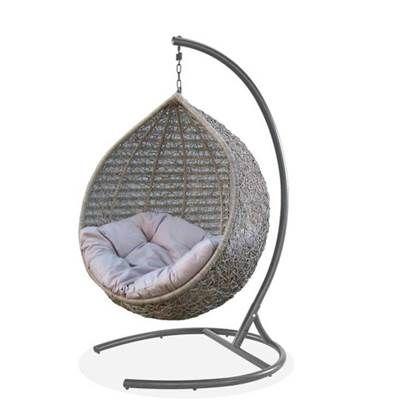 Hangstoel Egg Chair Wit.Hamilton Bay Outdoor Hangstoel Egg 100cm Rond Taupe In 2020