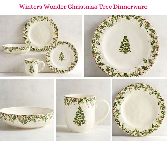 Winters Wonder Christmas Tree Dinnerware