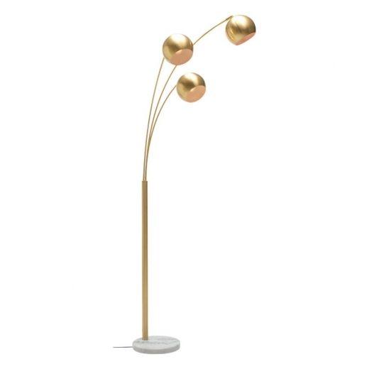 Astral 3 Light Floor Lamp White Marble Base Brass Gold Floor Lamp Floor Lamp Floor Lights
