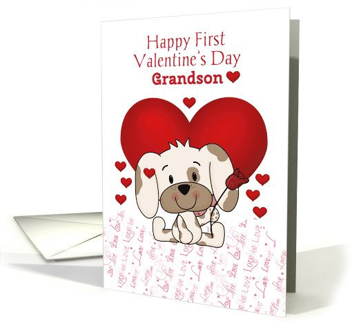 First Valentines Day Grandson card Cards Pinterest – First Valentines Day Cards