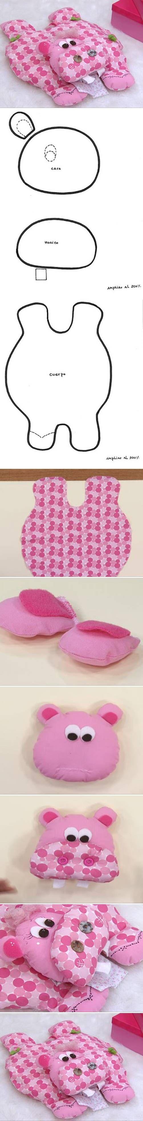 DIY Hippo Pillow: