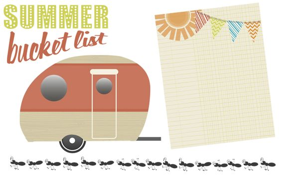Summer Bucket List Digital Embellishment Freebies from Creative Memories - Click to Download