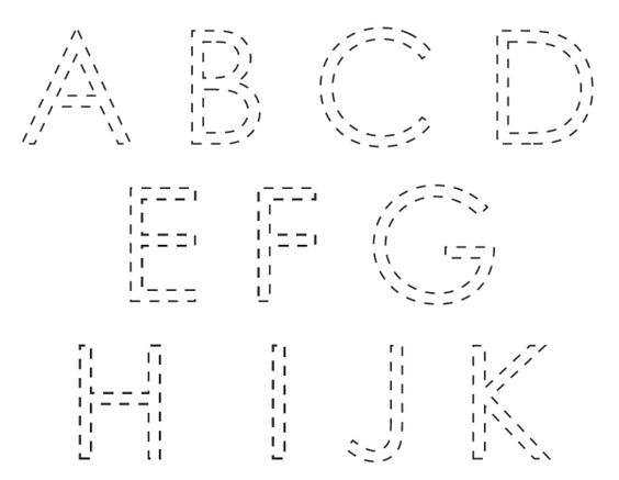 Printable letters to trace   Kiddo Shelter   Alphabet and Numbers ...