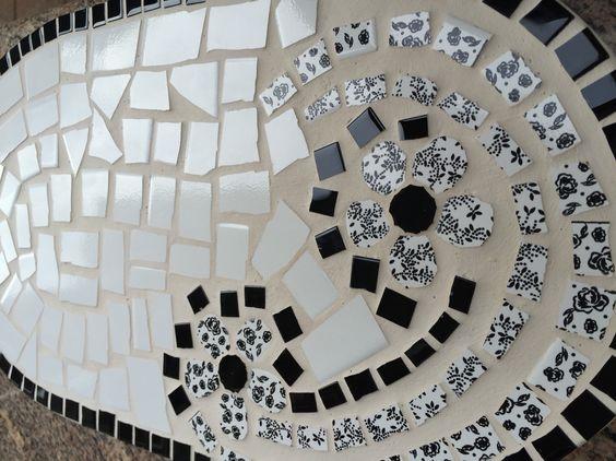 Bandeja para pães & frios em mosaico de azulejos!