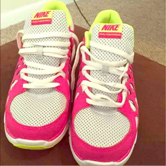Nike Dual Fusion 2 Youth size 7 In excellent condition. I wore them 1 time. They are very comfortable!! Nike Shoes Sneakers