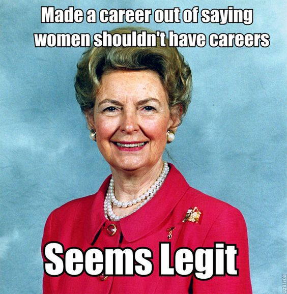 BE AWARE of this woman: Phyllis Schlafly Says Just Get Married, Ladies, And End Rape And Violence Forever.